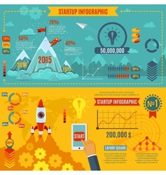 Startup infographics set vector