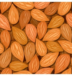 Almonds seamless background vector