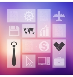 Business infographic with unfocused background vector