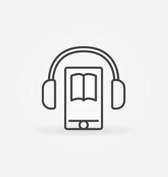 audiobook in smartphone icon vector image