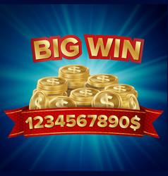 big win background for online casino vector image vector image