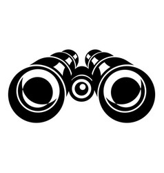 binocular icon simple style vector image