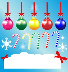 Christmas greeting cards ornament ball snowflake vector