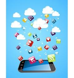 Cloud storage concept vector