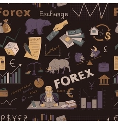 Colored finance forex hand drawing pattern vector image vector image