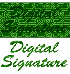 Digital signature vector image vector image