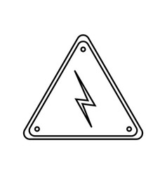 Electric warning sign vector