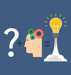 Finding solution innovation concept Flat design vector image