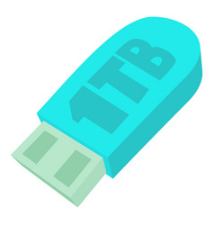 Flash drive icon cartoon style vector