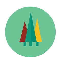 Forest flat icon vector