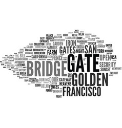 gate word cloud concept vector image