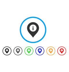 Info center marker rounded icon vector