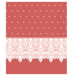 Invitation card with lovely lace ornaments vector image