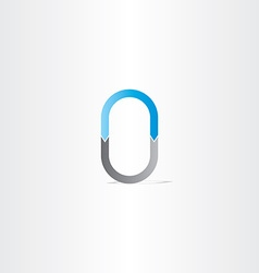 letter o or number 0 vector image vector image