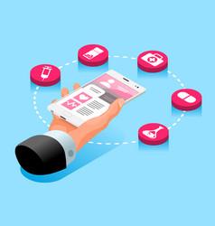 Medicine website consultation symbol vector