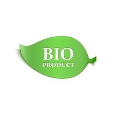 Realistic bio product sticker vector image