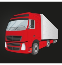 Red delivery truck - isolated vector