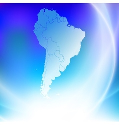 South america map on the blue background vector