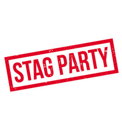 Stag party rubber stamp vector