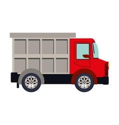 colorful silhouette with dump truck vector image