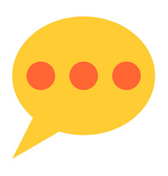 flat speech bubble icon chat room sign button vector image