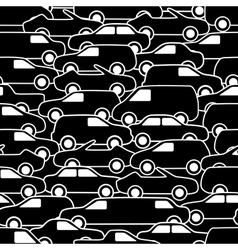 Seamless pattern with cars vector image