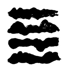 hand drawn dirty brush strokes vector image