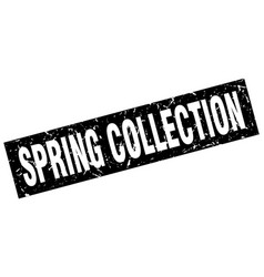 Square grunge black spring collection stamp vector