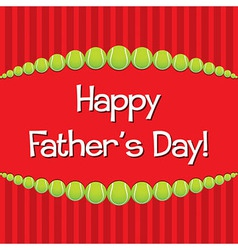 Tennis theme fathers day card in format vector