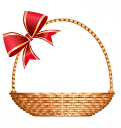 Gift basket vector