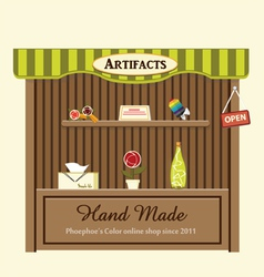 Shop of artifacts vector