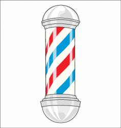barbershop pole vector image