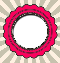 Abstract paper circle retro background vector