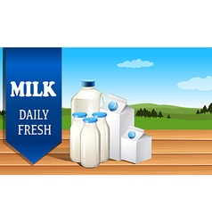 Milk advertisement with text vector
