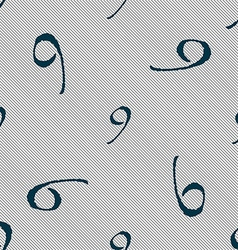 Number nine icon sign seamless pattern with vector