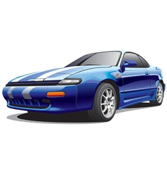 Drag sports car vector