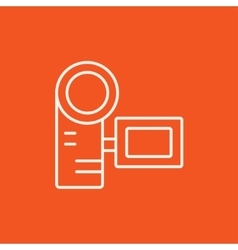 Digital video camera line icon vector