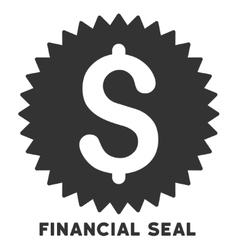 Financial seal icon with caption vector