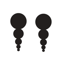 Flat icon in black and white earrings vector