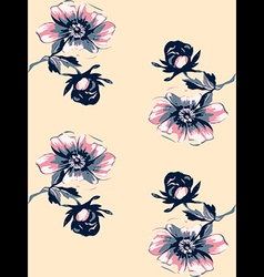 Wallpaper seamless floral vintage background vector