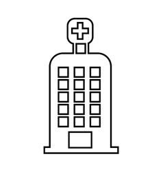 Hospital building isolated icon design vector