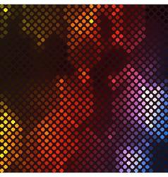 Abstract vibrant mosaic vector image vector image
