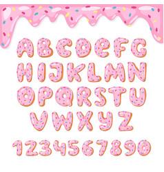 alphabet donut kids alphabetical doughnuts vector image