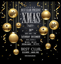 Christmas party design black vector
