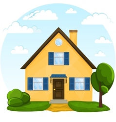 Cute cartoon house vector