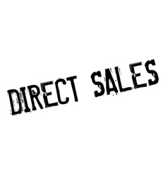 Direct Sales rubber stamp vector image