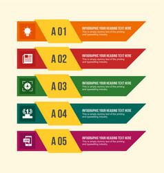 employment related information in infographic vector image vector image