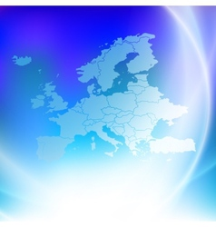 Europe map on the blue background vector
