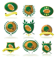Football badges vector