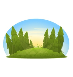 Forest Glade vector image